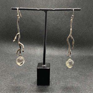 Ohrhänger 925/- Silber geschwärzt mit Turmalinquarzpampeln